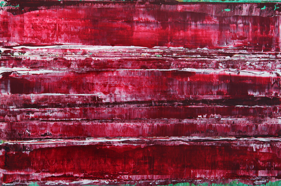 Burgundy Red painting